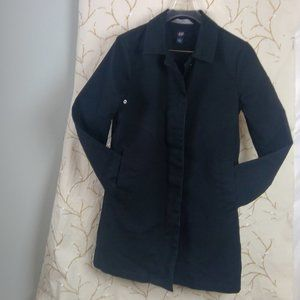 GAP WOMEN'S SIZE LARGE BLACK TRENCH COAT